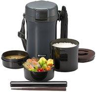 Термос для еды с контейнерами Tiger LWU-A201 Charcoal Gray