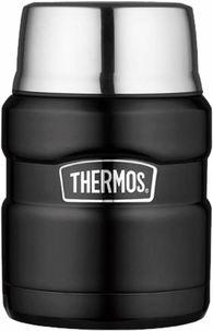 Термос для еды с ложкой Thermos SK 3000 BK Matt Black 0,47 л