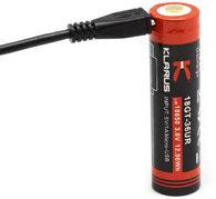 Аккумулятор Klarus 18650 3600 мА·ч с USB-портом