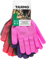 Перчатки садовые текстильные с ПВХ Tarmo Dotted Gloves 5 пар размера М (8)