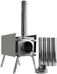 Походная печь Берег Экономка средняя сосъемными экранами