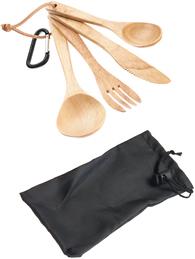 Набор деревянных столовых предметов Atom Outdoors Camping Cutlery Wooden