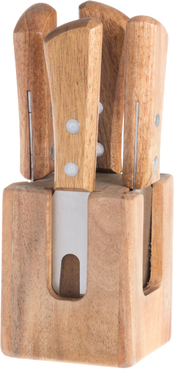 Набор ножей Maku 4 PCS Cheese Knives With Block Set