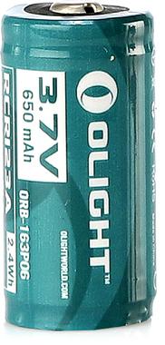 Аккумулятор Olight 16340 3,7 B 650 mAh 1шт. c USB портом