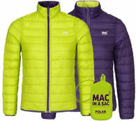 Пуховик двухсторонний Mac in a Sac Polar Down Grapel/Lime