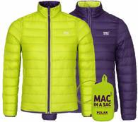 Пуховик двухсторонний Mac in a Sac Polar Down Grapel/Lime
