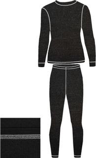 Детское термобелье из шерсти мериноса NordKapp Junior Ismo Black Graphite