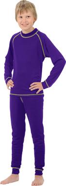 Детское термобелье из шерсти мериноса NordKapp Junior Jassi Purple