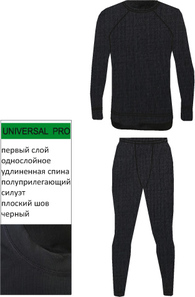 Мужское термобелье NordKapp Men Active Black на рост 180–188