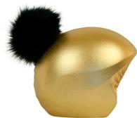 Нашлемник Coolcasc Gold Black ponpon