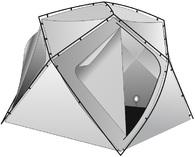 Внутренний тент Лотос Куб утепленный 180×210×210
