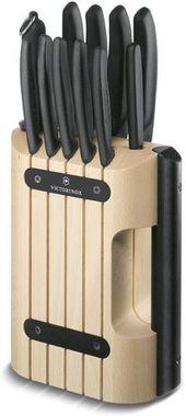 Подставка для ножей с черной ручкой Victorinox Rosewood Cutlery Block