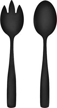 Набор из 2 шт. салатных ложек Maku Basic Salad Servers Steel Black Matt