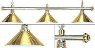 Лампа для бильярда на три плафона Weekend Elegance, золотистая штанга, золотистый плафон ⌀35 см