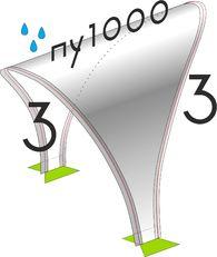 Соединение палаток  Лотос 3/3 салатовый