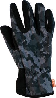 Спортивные флисовые перчатки Wind X-Treme Gloves Plain 198 Digital Camo Black