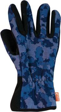 Спортивные флисовые перчатки Wind X-Treme Gloves Plain 199 Digital Camo Blue