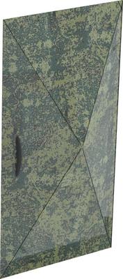 Быстросборная распашная дверь для платок Берег УП-1 и УП-2