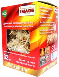 Древесные роллы для розжига Image 32шт.